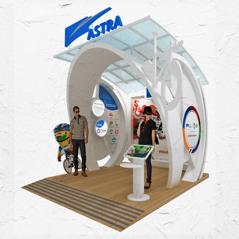 Design Booth Astra ASEAN GAMES 2018
