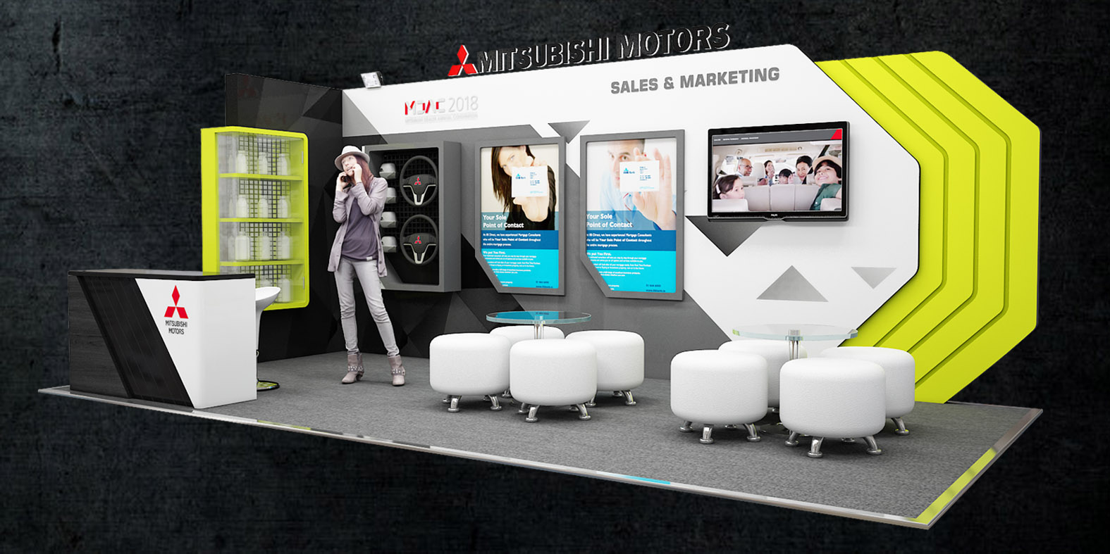 Design Booth Mitsubishi Motor